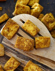 Easy Baked Curried Tofu - Vegan and Oil-Free