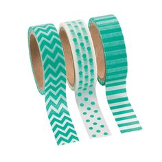 Teal Washi Tape Set - OrientalTrading.com $5.00/set
