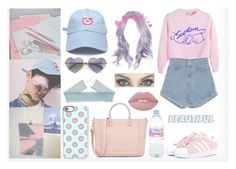 SEVENTEEN - Pretty U by adnqmu on Polyvore featuring polyvore fashion style adidas Originals Casetify Wildfox Lime Crime Evian GET LOST clothing