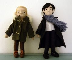 Tiny John and Sherlock. I can not accurately express my want for these tiny consulting cuties.