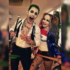 Harley Costume, Clueless Halloween Costume, Cute Couple Halloween Costumes, Pregnant Halloween Costumes, Joker Costume, Halloween Kostüm, Halloween Outfits, Harley Quinn Halloween, Joker And Harley Quinn