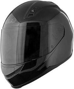 85a11fa7 Speed and Strength SS 700 Gloss Black Full Face Helmet Clear Shield