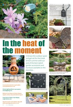 In the heat of the moment ~ Shop locally for stylish and original garden furniture and accessories this summer. Tea Light Lanterns, Tea Lights, British Summer, Garden Furniture Sets, Garden Accessories, Hampshire, Home And Garden, Gardens, Homes
