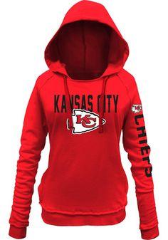 Kansas City Chiefs Womens Red Brushed Fleece Hoodie