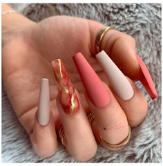 In search for some nail styles and ideas for your nails? Listed here is our list of must-try coffin acrylic nails for cool women. Summer Acrylic Nails, Best Acrylic Nails, Orange Acrylic Nails, Nail Swag, Stylish Nails, Trendy Nails, Aycrlic Nails, Coffin Nails, Toenails