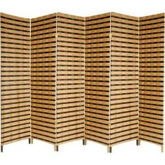 Oriental Furniture Good Simple Extra Wide Large Size Room Divider, Rattan Style Two Tone Woven Fiber Folding Screen Partition, 6 Panel 4 Panel Room Divider, Sliding Room Dividers, Shoji Screen, Decorative Screens, Oriental Furniture, Asian Decor, Transitional Style, Home Decor Outlet, Rattan