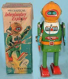 vintage space toys tin toy robots antique toy appraisals, antique space toys for sale,