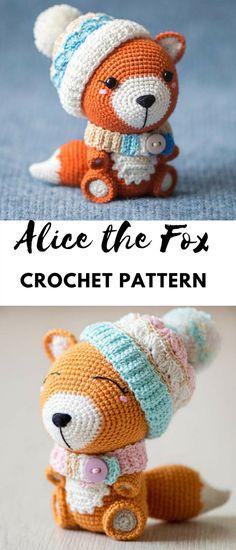 "Crochet Pattern of Fox Alice from ""AradiyaToys Design"" #ad #amigurumidoll #amigurumipattern  #amigurumi #crochet #crocheting  #haken #haëkeln #patternsforcrochet #crochetpattern #pattern #printable #instantdownload  #fox"