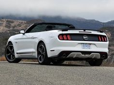 The 2017 Ford Mustang GT Convertible is available with a California Special option package that provides it with a unique appearance ...