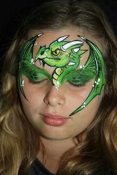 Dragon face painting by Lisa Marie McKinnon