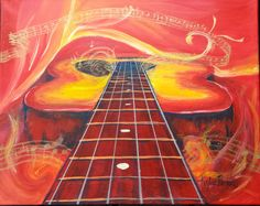 Note the Passion by Kaylee Brooks 16x20 Acrylic paint on stretched canvas, painted for a friend