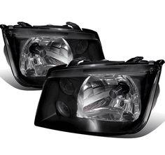 99-05 Volkswagen Jetta MK4 Bora Crystal Headlights - Black