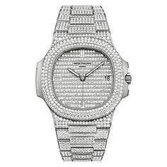 Patek Philippe Nautilus Men's Watch Model 5719-1G-001 ($247,000) ❤ liked on Polyvore featuring men's fashion, men's jewelry, men's watches, mens watches, patek philippe mens watches and mens watches jewelry