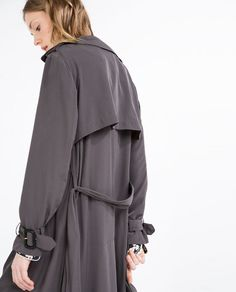 Image 5 of LONG FLOWING TRENCH COAT from Zara