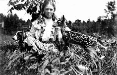 Sometimes your best childhood playmates aren't human! (ca.1913) | Florida Memory