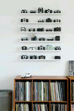 Perfect to house my cameras and the records!! Living room or office?