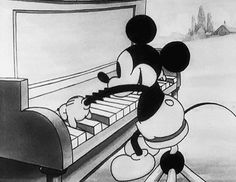 disney love black and white cartoons & comics mickey mouse