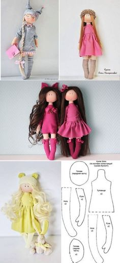 You Will Enjoy fabric dolls With These Tips Fabric Doll Pattern, Doll Dress Patterns, Doll Sewing Patterns, Sewing Dolls, Sewing Ideas, Doll Crafts, Diy Doll, Homemade Dolls, Sock Dolls