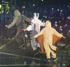 Sehun (wolf), Chanyeol (white tiger) and Baekhyun (flying squirrel)The so sergisi? Exo Ot12, Chanbaek, Baekhyun Chanyeol, Park Chanyeol, Kpop Exo, Exo K, K Pop, Exo Showtime, Exo Concert