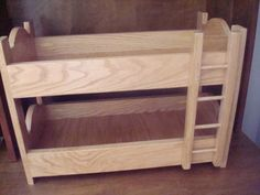 Oak Doll Bunk BedFits American Girl Doll and 18 by MainStCrafts