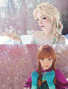 Anna and Elsa cosplay. Someday I want to do a seriously complex cosplay of Elsa Frozen Cosplay, Elsa Cosplay, Disney Cosplay, Anime Cosplay, Cosplay Girls, Disney Love, Disney Magic, Disney Frozen, Anna Frozen