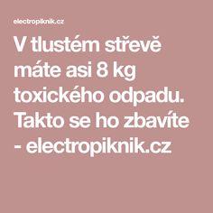 V tlustém střevě máte asi 8 kg toxického odpadu. Takto se ho zbavíte - electropiknik.cz Cleanser, Detox, Health Fitness, Asia, Cleaning Agent, Fitness, Health And Fitness