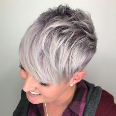 Short Pixie With Choppy Crown And Bangs