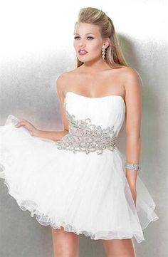 Great opening number dress for a teen looking for something in white!