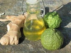Petites fioles parfumées: huile au combava, au curcuma et au gingembre