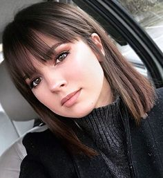 38 Chic Short Bob Haircuts With Bangs That Are Totally Fabulous, Bob Haircuts Wi. - 38 Chic Short Bob Haircuts With Bangs Th. Short Bob Haircuts, Long Bob Hairstyles, Haircut Bob, Hairstyles For Medium Length Hair With Bangs, Medium Straight Hairstyles, Layered Haircuts, Braid Hairstyles, Haircuts With Fringe, Best Haircuts