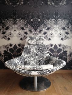 Timourous Beasties' Thistle fabric and Omni Drips wallpaper.