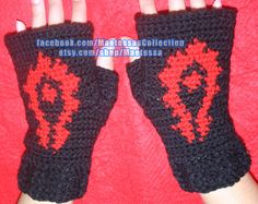 For the Horde Fingerless Mitts