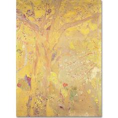 Trademark Fine Art Yellow Tree, 1900 inch Canvas Art by Odilon Redon, Size: 35 x 47, Multicolor