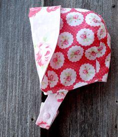 Reversible Baby Bonnet Easter Bonnet sun bonnet by eddieandsofia