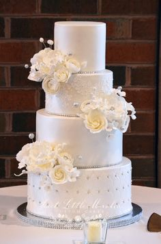 Wintery White Luster Cake