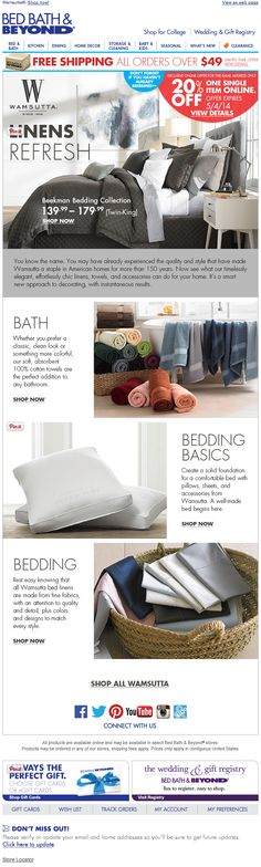 Bed Bath  Beyond email 2014