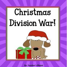 Christmas Math Games - Division War! by Teacher's Planet | TpT