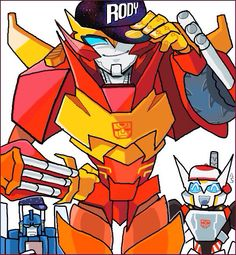 Rodimus, Ultra Magnus, and Drift. Gangster style!