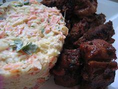 """""""Anya, ez isteni!..."""", avagy Gabojsza konyhája: Barbecue oldalas cole slaw salátával"""