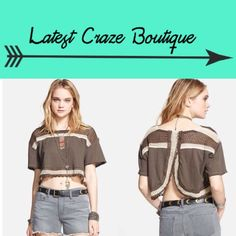 FREE PEOPLE Bunny Crop Top Airy open knitting with contrast stripes styles a festival-ready crop top cut with an open envelope back, small= 4-6 PERFECT FOR FESTIVAL SEASON! 😎☀️✌🏼️🌻 Free People Tops Crop Tops