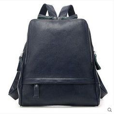 100% Genuine Leather Backpack for women Trend simple fashion shoulder school travel bag casual all-match for feminina
