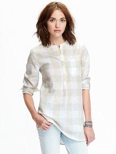 Women's Linen-Blend Tunics