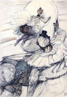 "Artist:        Henri Toulouse Lautrec Title:        The Circus Portfolio Year:        1990 (After) Medium:        Lithograph Edition:        350 Paper Size:    16-3/4"" x 12-1/2"""