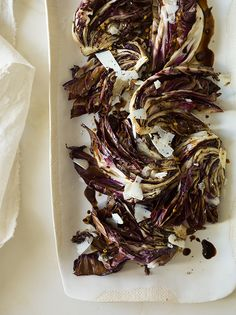 Grilled Radicchio. I'm so happy I made the last minute decision to grow radicchio in the garden this year.
