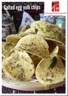 Salted Egg Yolk Potato Chips (金莎咸蛋薯片)    #guaishushu #kenneth_goh #salted_egg_yolk