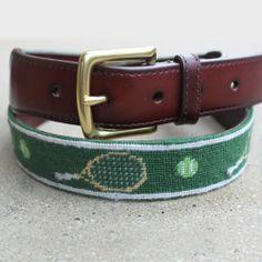 Lawn Tennis Needlepoint Belt