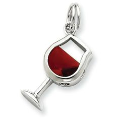 Sterling Silver Red Cz Wine Glass Charm Shop4Silver. $10.98. Save 76%!