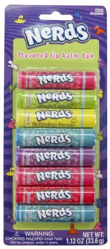 Nerds 8 Piece Flavored Lip Balm Nerds http://www.amazon.com/dp/B0094AOMGA/ref=cm_sw_r_pi_dp_ze6evb1059VFM