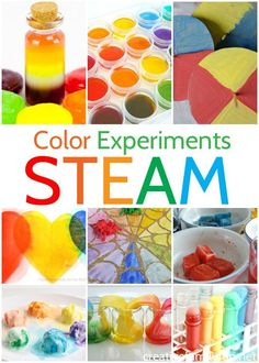 Experiment with color with these fun and amazing Color STEM Activities for Kids. Learn about chromotography, color mixing, and more. #STEM #kids #science