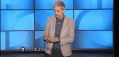 """""""And, Larry, I don't even know what it means to celebrate my lesbianism. I mean... Well, I guess I do,""""  DeGeneres said, gleefully setting off a popper. """"Like that! Yay! I'm gay!"""" Haha I love her so much."""